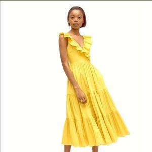 Kate Spade Poplin Ruffle Dress